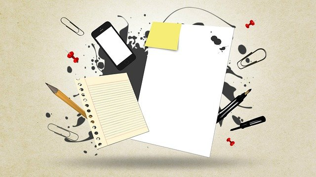 School Supplies, Stationery, Notes, Abstract, Paperwork