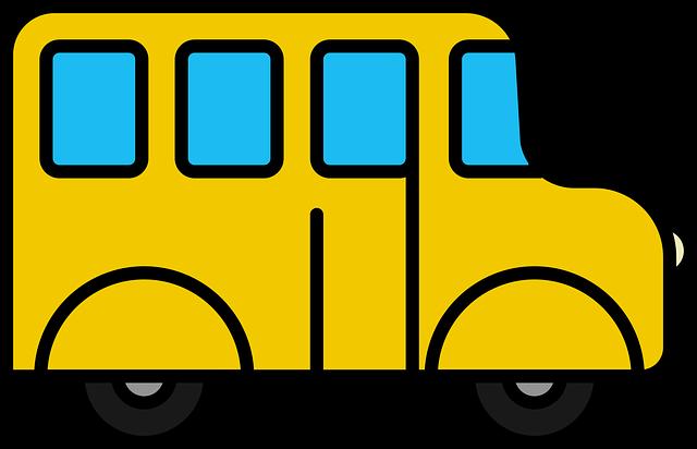 Icon, Bus, School Bus, School Van