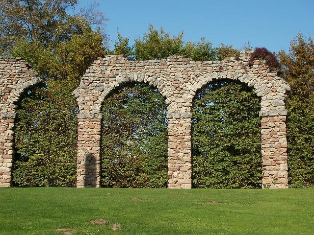 Roman, Aqueduct, Schwetzingen, Architecture, Ancient
