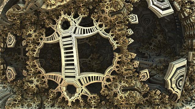 Fractal, 3d, Design, Fantasy, Futuristic, Sci, Fi