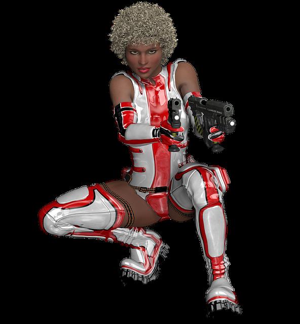 Fighting, Warrior, Woman, Sci-fi, Action, Hero, Pose
