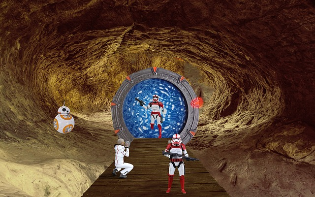 Fantasy, Cave, Science Fiction, Stargate, Photomontage