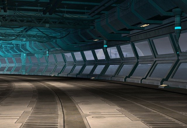 Science, Fiction, Scifi, Corridor, Hall, Interior