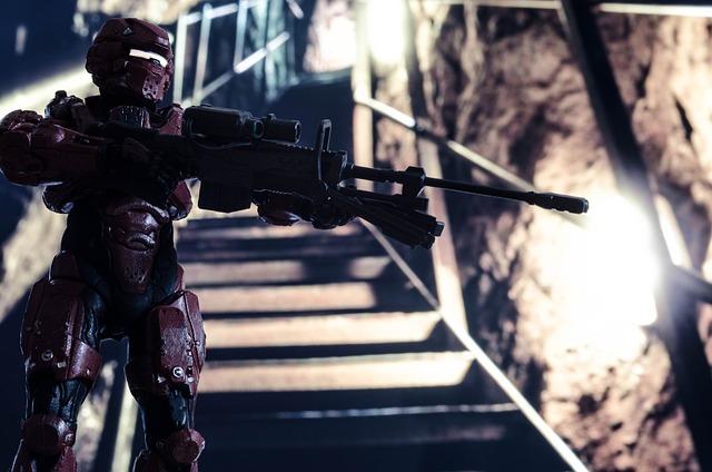 Science Fiction, Action Figure, Robot, Soldier, Sniper