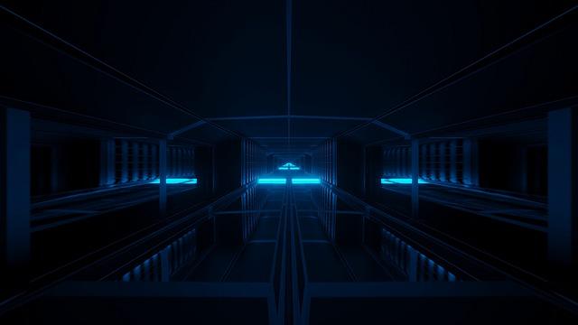 Dark, Blue, Tunnel, Scifi, Wallpaper, Background