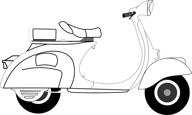 Scooter, Vespa, Art, Isolated, Motorcycle, Transport