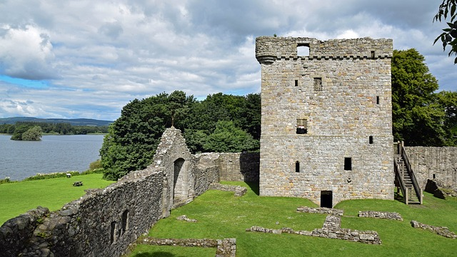 Scotland, England, Island, Loch Leven Castle, Tower