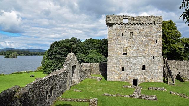 Scotland, England, Island, Loch Leven Castle, Tower