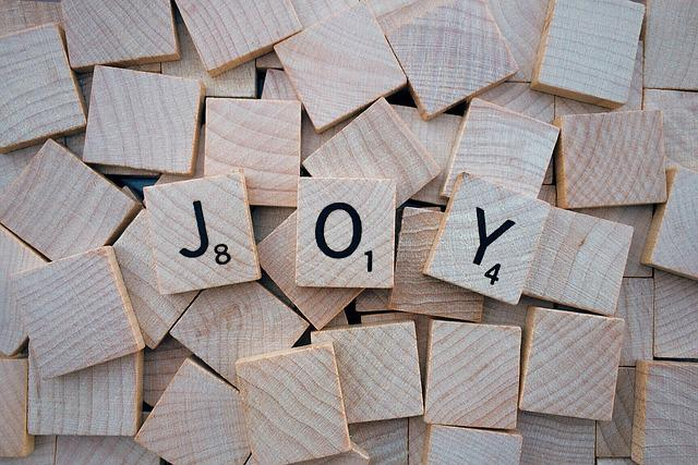 Joy, Word, Letters, Scrabble