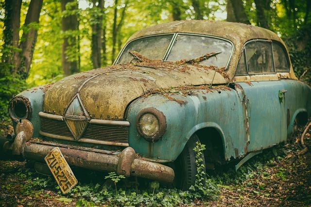 Auto, Pkw, Junkyard, Scrap, Rust, Resting Place