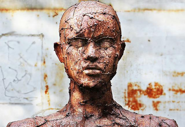 Art, Sculpture, Scrap Sculpture, Human, Replica