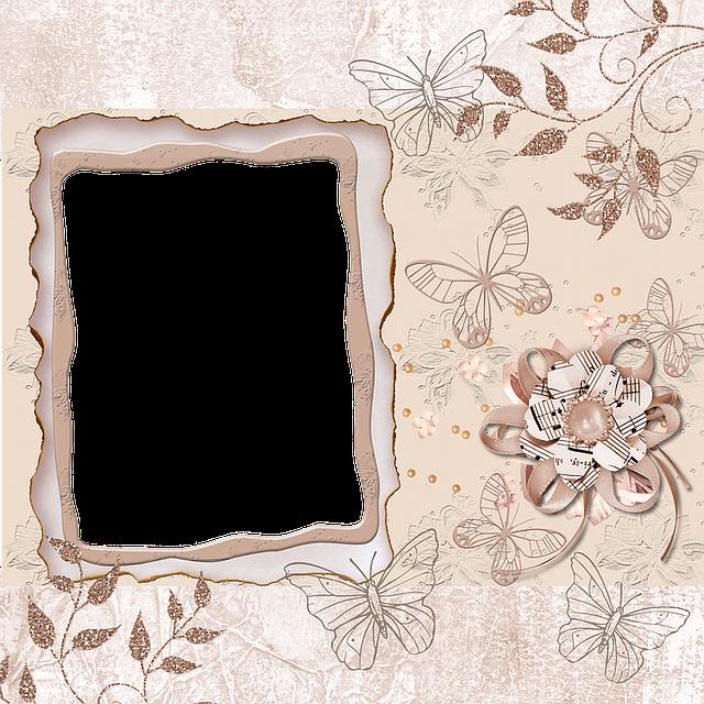 Background, Old, Butterfly, Scrapbook, Vintage, Flower