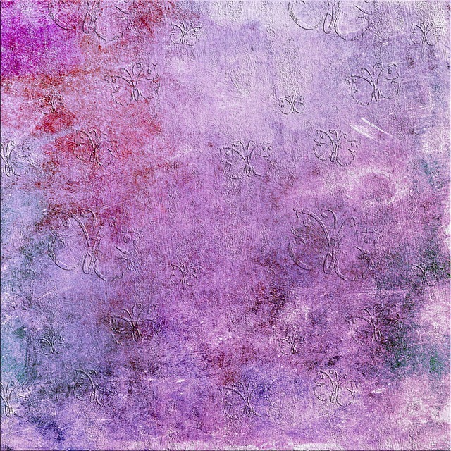 Scrapbook, Paper, Purple, Butterfly, Lilac, Background