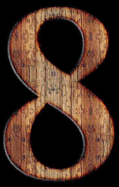 Number, 8, Eight, Digit, Background, Scrapbooking