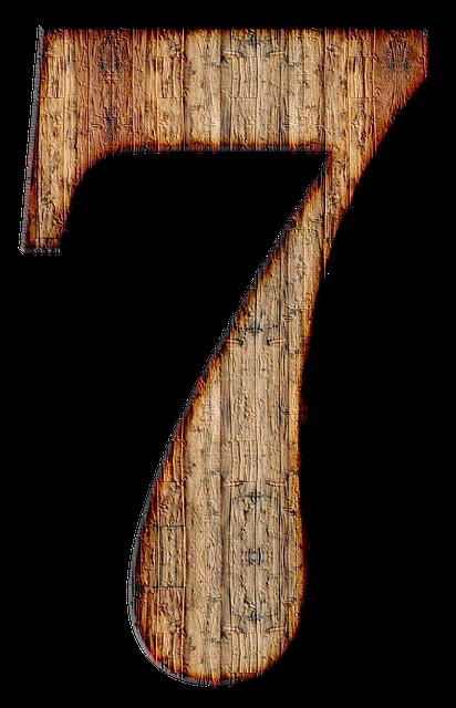 Number, 7, Seven, Digit, Background, Scrapbooking