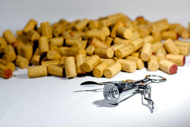 Corks, Corkscrew, Screw, Wine, Drink, Alcohol, Beverage
