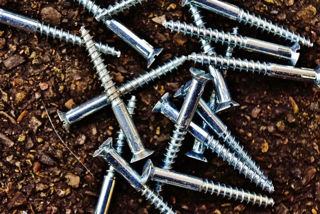 Screw, Slotted Screws, Silver
