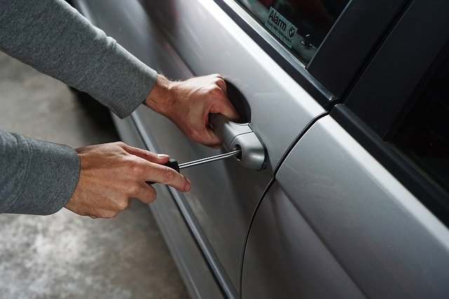 Car, Burglary, Thief, Burglar, Break Into, Screwdriver