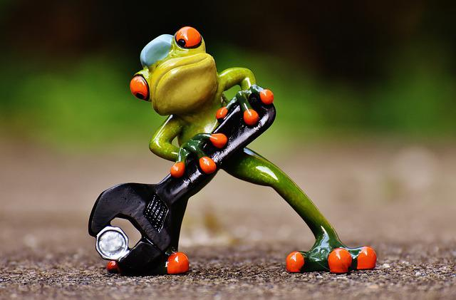 Frog, Mechanic, Screwdrivers, Fig, Wrench, Funny, Cute