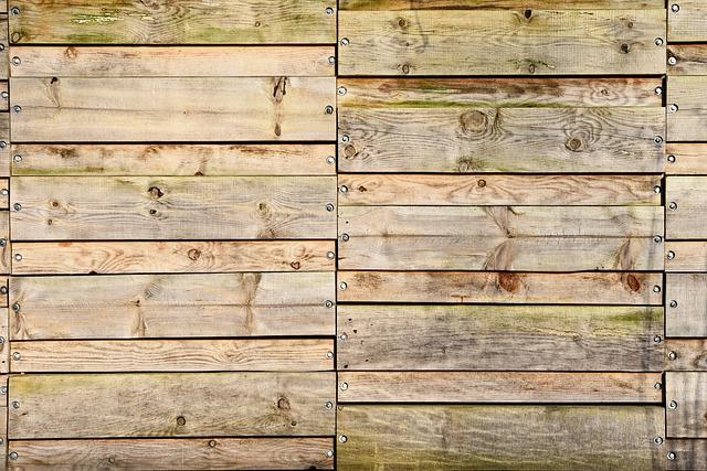 Wooden Fence, Fence, Wood, Plank, Grain, Screws