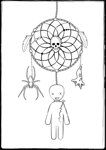 Dreamcatcher, Spider, Voodoo, Scull, Nightmare