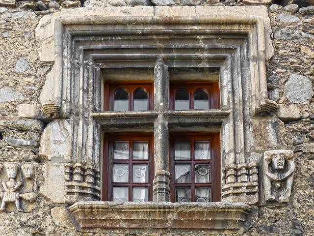 Window, Sculpted Stone, Medieval, Historical, Arties