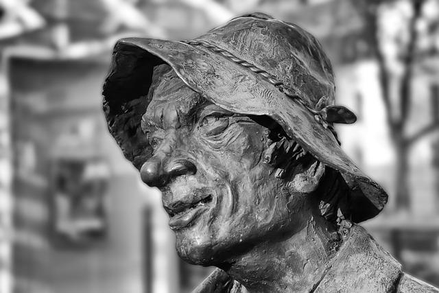 Human, Portrait, A, Adult, Man, Sculpture, Art, Old