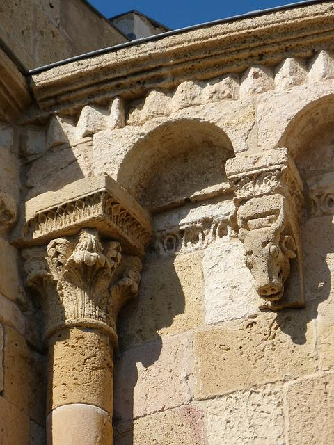 Romanesque, Apse, Carved Stone, Sculpture