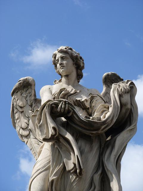 Angel, Statue, Rome, Wing, Sculpture, Fig, Art, Cube