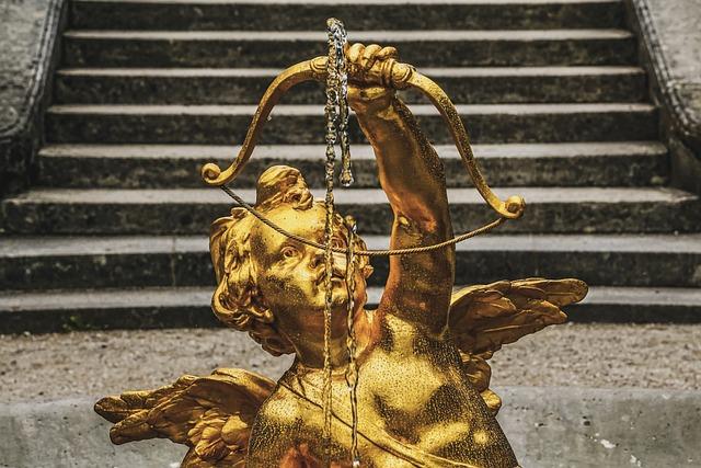 Angel, Baroque Angel, Cherub, Figure, Sculpture, Golden