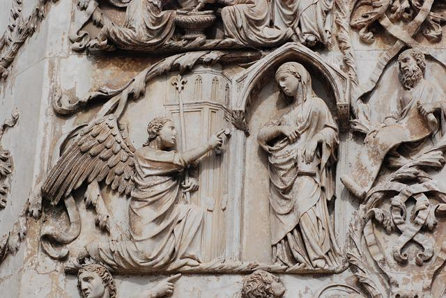 Italy, Bas Relief, Sculpture, Cathedral, Orvieto