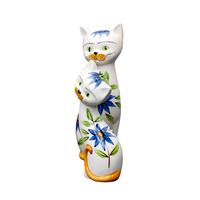 Art, Figure, Ceramic, Sculpture, Porcelain, Cat
