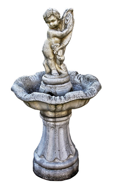 Manneken, Fountain, Sculpture, Cherub, Fish