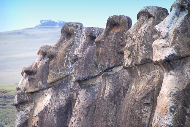 Chile, Easter Island, Rapa Nui, Moai, Sculpture
