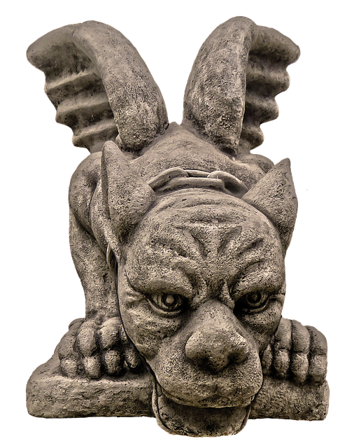 Figure, Dragon, Wing, Face, Ceramic, Sculpture, Statue