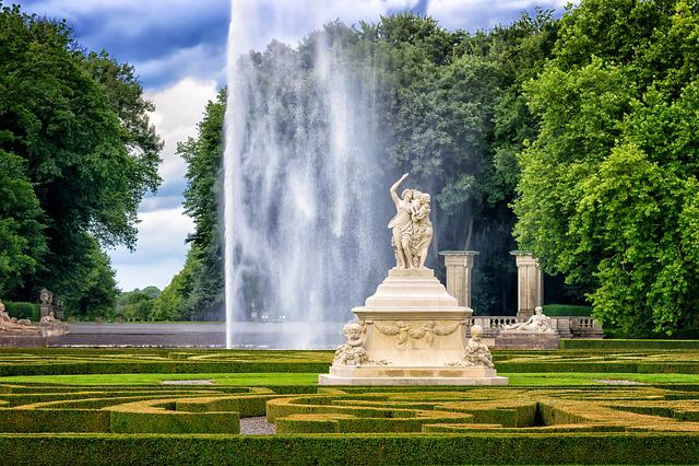 Park, Castle, Sculpture, Fountain, Water Feature, Water