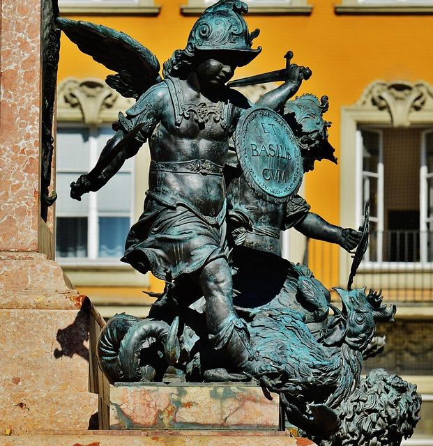 Marian Column, Munich, Sculpture, Marienplatz