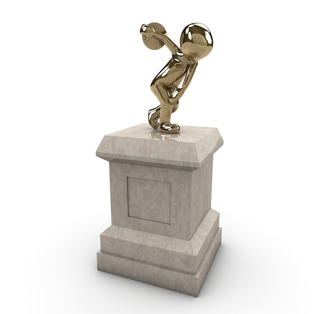 Monument, Discus, Force, Globe, Metal, Sculpture