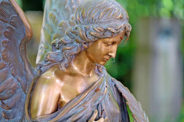 Angel, Cemetery, Statue, Augsburg, Mourning, Sculpture