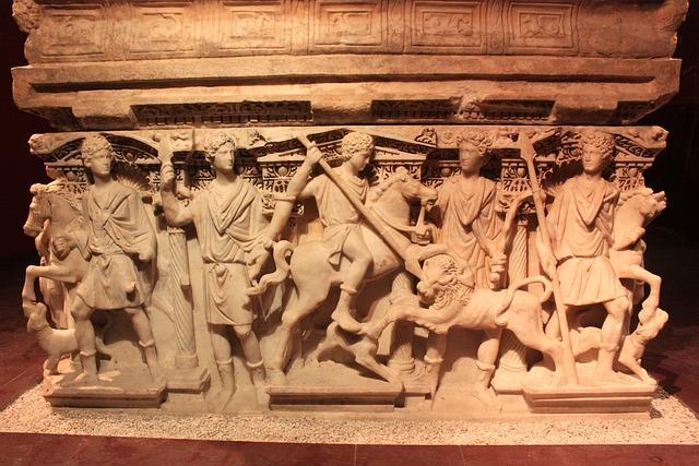 Sculpture, Museum, Tomb, Sarcophagus, On