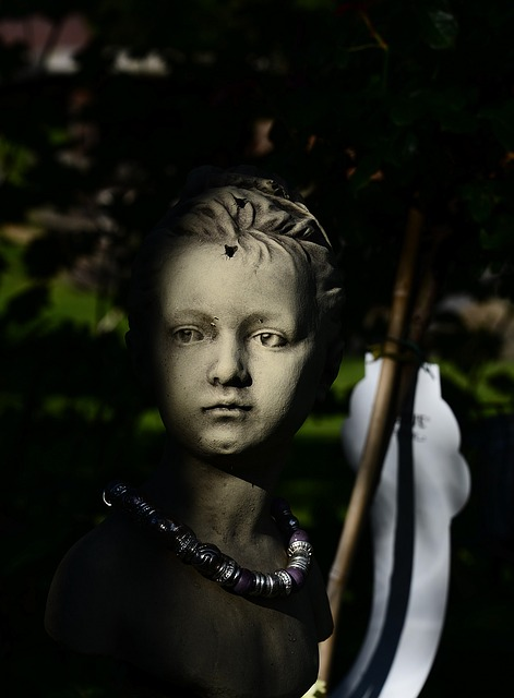 Child, Kids, Face, Statue, Shadow, Sculpture, Dark