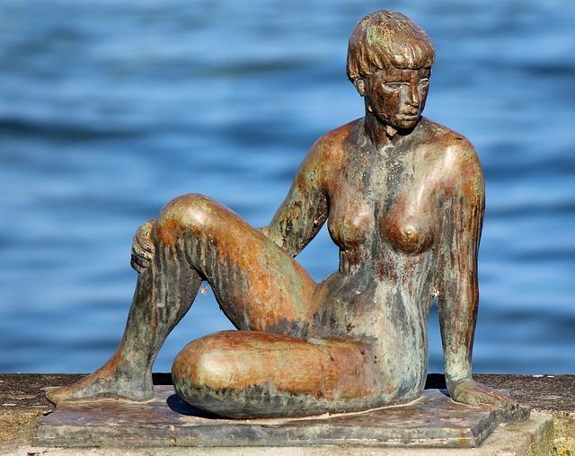 Sculpture, Statue, Lakeside, Bronze Sculpture