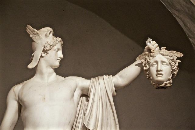 Medusa, Perseus, Head, Vatican, Statue, Sculpture