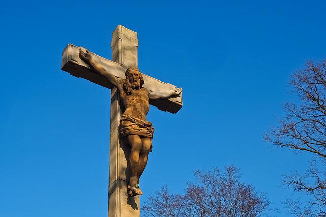 Sky, Sculpture, Statue, Religion, Spirituality, Cross