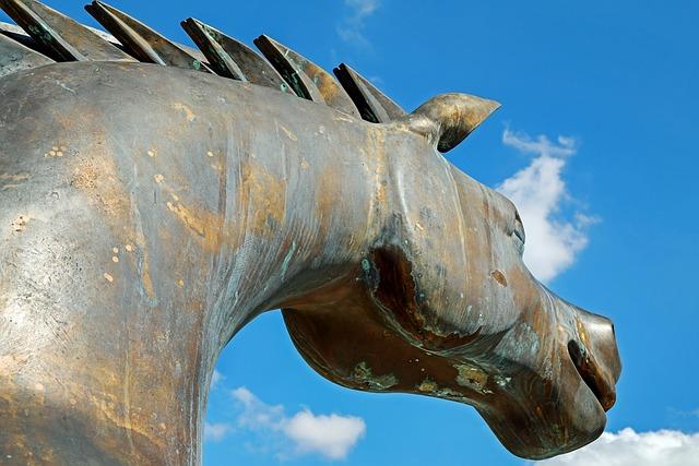 Sculpture, Horse, Steel Ross, Trojan Horse, Statue