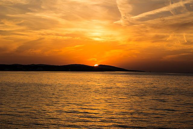 Sunset, Sea, Island, Croatia, Coast, Adriatic, Water