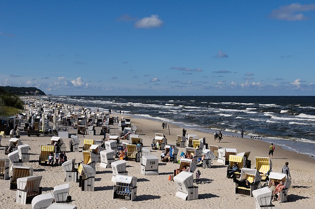 Usedom, Beach, Clubs, Baltic Sea, Sea, Tourism, Sand