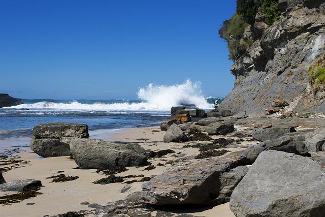 Water, Seashore, Nature, Sea, Landscape, Rock, Beach