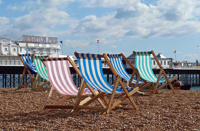 Sun Loungers, Beach, Deck Chair, Sea, Sun Lounger