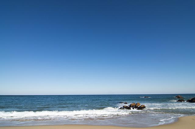 Beach, Waves, Background, Sea, Nature, Mesh Beach